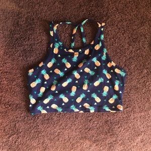 Charlotte Russe Pineapple cropped tank